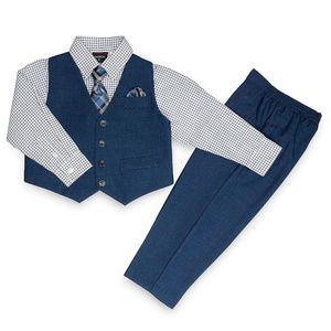 NEW HUDSON FERRELL 4 PC VEST SHIRT PANTS SET 3T